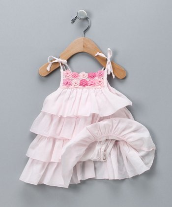 Pink Floral Tiered Dress - Infant & Toddler