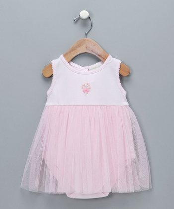 Pink Bouquet Tulle Bodysuit - Infant