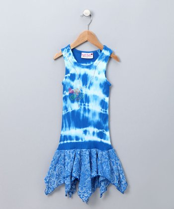 Ocean Blue Handkerchief Dress - Toddler & Girls