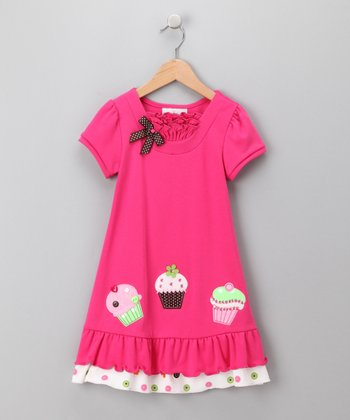 Rare Editions Pink Cupcake Dress - Toddler & Girls