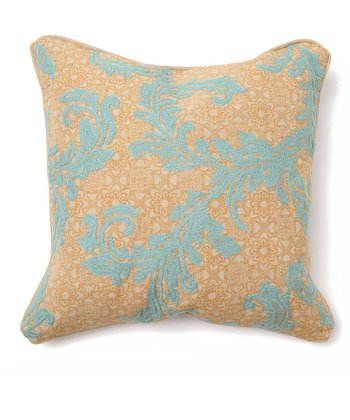 Natural & Blue Tuscan Vine Throw Pillow