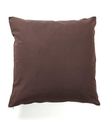 Dark Chocolate Basic Elements Throw Pillow