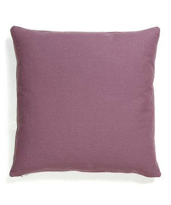 Dark Plum Basic Elements Throw Pillow