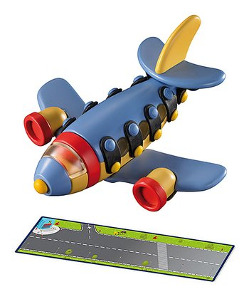 Runway Play Mat & Jet Plane Construction Kit