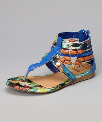 Blue Strappy Gladiator Sandal