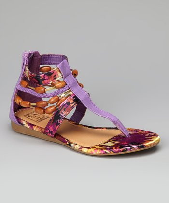 Purple Strappy Gladiator Sandal