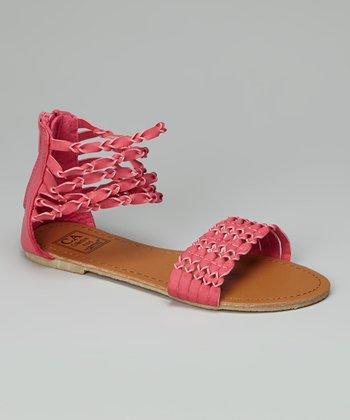 Fuchsia Twisted Strap Gladiator Sandal