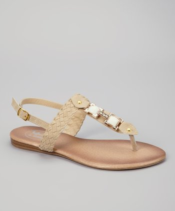 Beige Braid Sandal