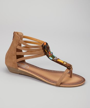 Tan Bead Sandal