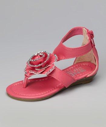 Fuchsia Rose Gladiator Sandal