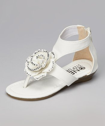 White Rose Gladiator Sandal