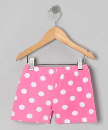 Pink Polka Dot Undershorts - Toddler & Girls