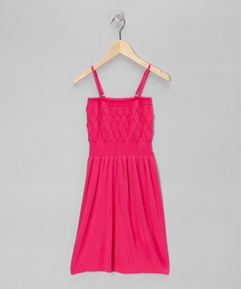 Fuchsia Diamond Dress - Girls