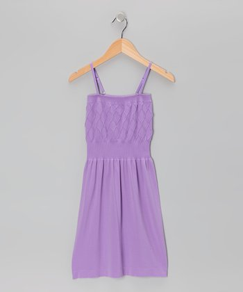 Purple Diamond Dress - Girls