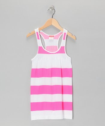 Pink Bold Stripe Dress - Girls
