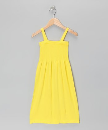 Yellow Smocked Dress - Girls