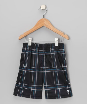 Black Puerto Rico Tonal Shorts - Toddler