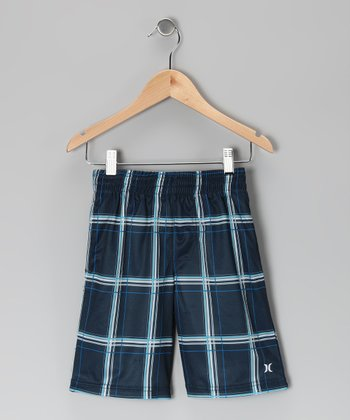 Navy Puerto Rico Tonal Shorts - Toddler
