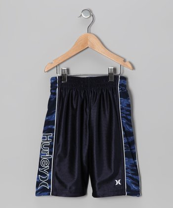 Legacy Navy Camouflage Reversible Shorts - Boys