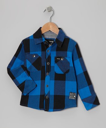 Ultramarine Blue Freestyle Button-Up - Infant & Toddler