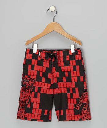 Regal Red Segment Boardshorts - Toddler