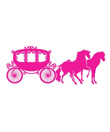 Pink Carriage Wall Decal