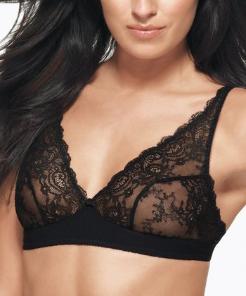 Black Lace Seduction Bralette - Women & Plus