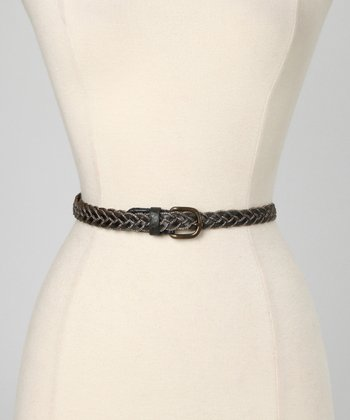 Lapis Amber Leather Waist Belt
