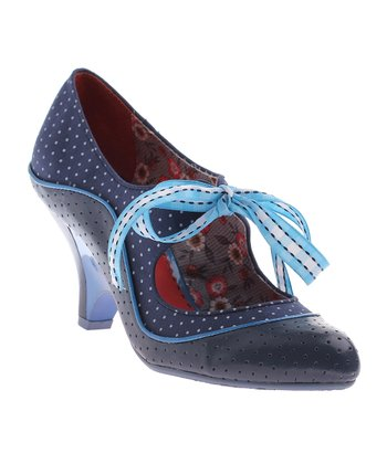 Dark Blue School's Out Oxford Pump