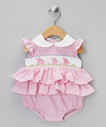 Pink Elephant Ruffle Bodysuit - Infant