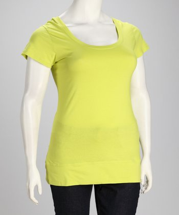 Lemon Lime Plus-Size Crisscross Tee