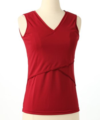 Burgundy Nursing Tank