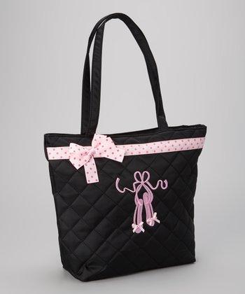 Black & Pink Ballet Slipper Tote