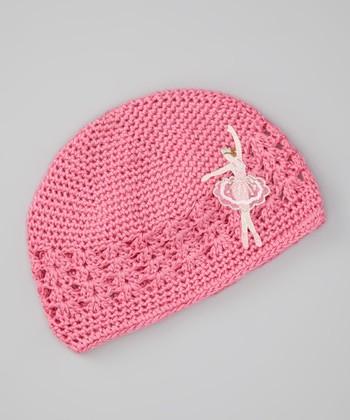 Pink Ballerina Crocheted Beanie