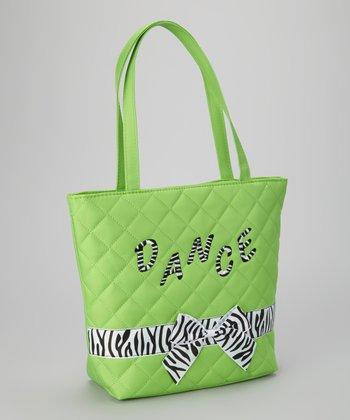 Lime Zebra 'Dance' Tote