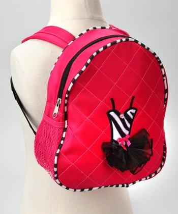 Hot Pink Zebra Tutu Backpack