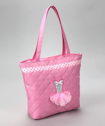 Pink Quilted Tutu Tote