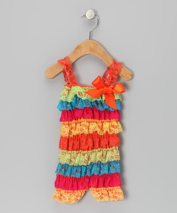 Rainbow Lace Ruffle Romper - Infant