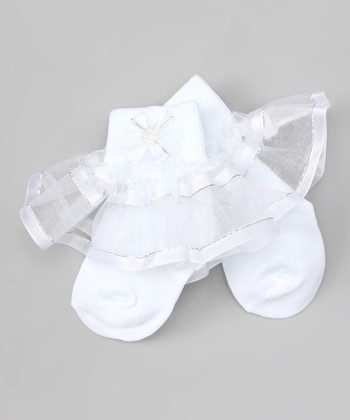White Skirted Socks - Infant, Toddler & Girls