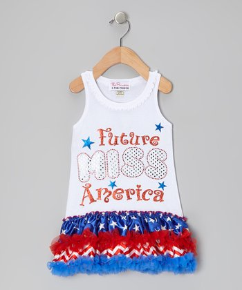 White 'Future Miss America' Dress - Infant, Toddler & Girls