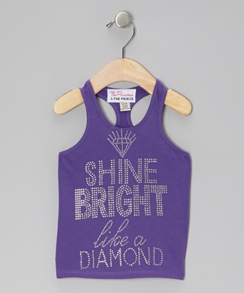 Purple 'Shine Bright' Tank - Infant, Toddler & Girls