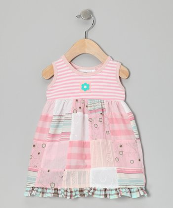 Light Pink Patchwork Ruffle Dress - Infant & Toddler