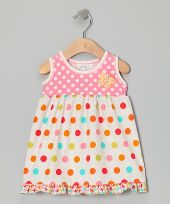 Pink Polka Dot Ruffle Dress - Infant & Toddler