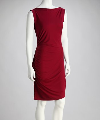 Cranberry Boatneck Dress