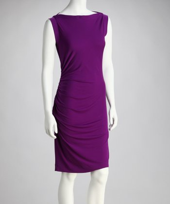 Grape Boatneck Dress