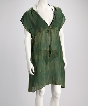 Olive Drawstring Cover-Up