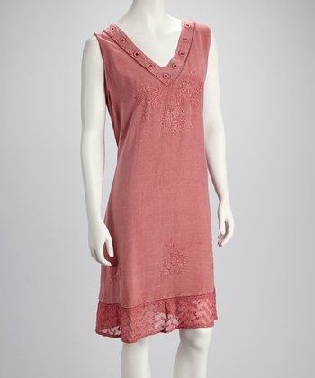 Rose Mirror Sleeveless Dress
