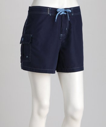 Navy Contemporary Boardshorts