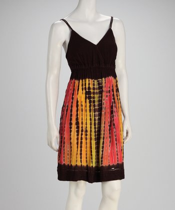 Chocolate Earth Tie-Dye Empire-Waist Dress