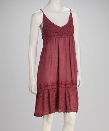 Plum Crochet Dress